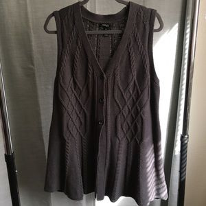 Style & Co sleeveless cardigan